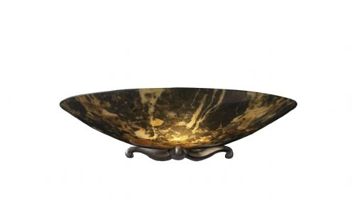 Savoy Hand-Made Wall Light, Dark Marble, Antique Brass MG28 (028975) (Class 2 Double Insulated)